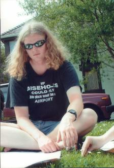 Me in my favourite t-shirt...I was often seen in this at parliament.